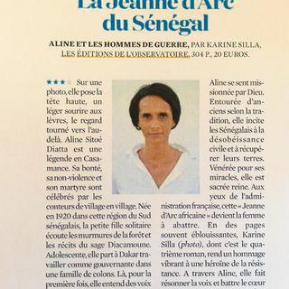 La chronique de Claire Julliard au sujet du livre de Karine Silla, Aline et les hommes de guerre...