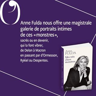 "PARUTION   Aujourd'hui en librairie, "" Mes trs chers monstres "", d'Anne Fulda.   Journaliste..."