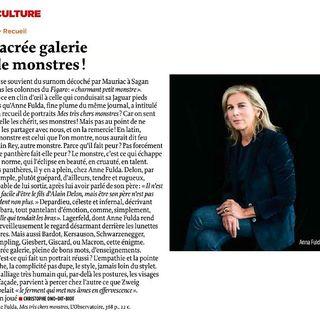 Un nouveau double aujourdhui pour Anne Fulda : deux chroniques de son Mes tres chers monstres...