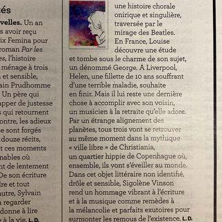 Une histoire chorale, onirique et singulire : la critique du roman de Sigolene Vinson, La...