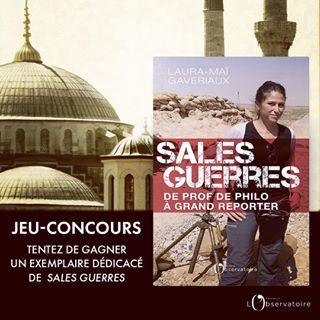 """#jeuxconcours Tentez de gagner un exemplaire ddicac de """"Sales guerres"""" de @lmgaveriaux, grand..."""