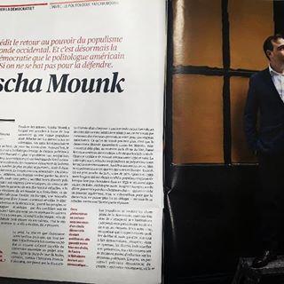 """Qui veut enterrer la dmocratie ?"" Grand entretien avec Yascha Mounk aujourd'hui dans @telerama, ..."