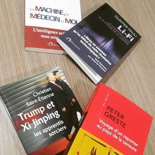 """PARUTION   Aujourdhui en librairie : - """"La machine, le mdecin et moi"""" de David Gruson - """"Lifi..."""