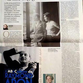 """Aujourd'hui dans Le Figaro, le trs beau portrait de Dominique Schnapper, """"la fille engage"""",  l'..."""