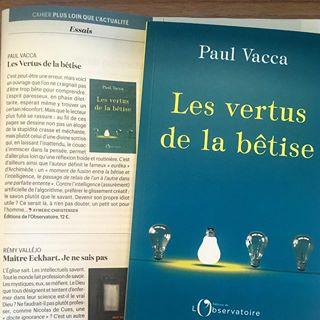 Paul Vacca et ses vertus de la btise sont dans la Vie cette semaine !  #presse #essai #book