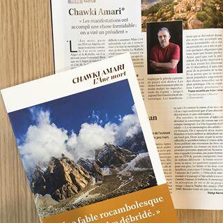 Une interview de Chawki Amari est  retrouver dans le LIRE du mois !  #presse #litterature #...